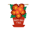 Floral Happy Fall Y'all Banner