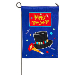 Happy New Year Garden Banner