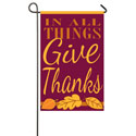 In All Things Give Thanks Garden Banner, EE168250G
