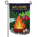 Our Neck of the Woods Applique Garden Banner, EE168444BLG