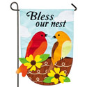 Bless Our Nest Applique Garden Banner, EE168531G