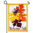 Autumn Leaves Applique Garden Banner, EE168564BLG