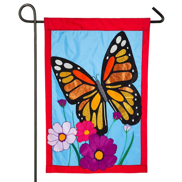 Butterfly Applique Garden Banner 12 1 2 In X 18 In
