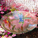 Dragonflies Glass Bird Bath, EE2GB058