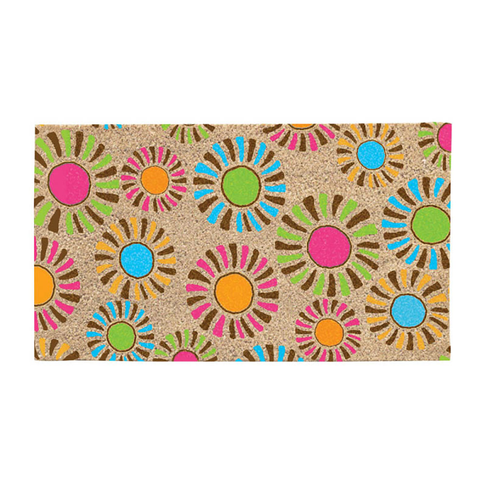 sunburst colorful door mat