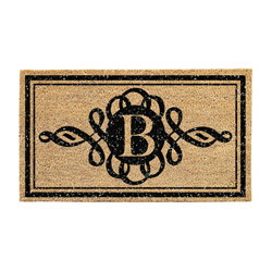 B Monogram Scroll Coir Mat, EE2RM235BBL