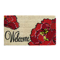 Red Peony Welcome Coir Mat, EE2RM265BL
