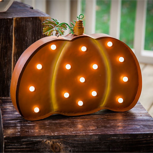battery operated light up pumpkin outdoor wall hanging. Black Bedroom Furniture Sets. Home Design Ideas