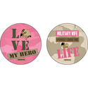 Military Wife Absorbent Car Coasters, EE3CAR4699B