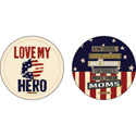 Military Hero Absorbent Car Coasters, EE3CAR4700A