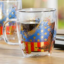 American Eagle Double Wall Glass Coffee Cup, EE3GCC302