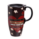 Miss You Military Ceramic Latte Travel Mug withGift Box, EE3LTM4700B