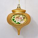 Christmas Carol Peace Ornament, EE3OT4719P