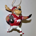 University of Arkansas Running Reindeer Ornament