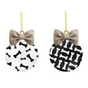 Black and White Dog Bone Ornament Set, EE3OTG166