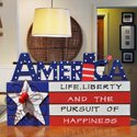 America Wood Sign, EE3WP090