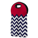 Stellar Stripes Neoprene Double Wine Bottle Tote, EE4NR24760