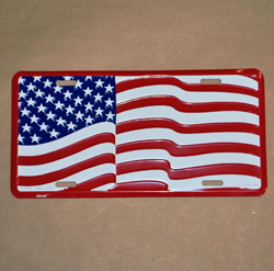 Waving United States Flag License Plate, EEILP0528