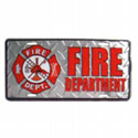 Fire Department License Plate, EEILP0671