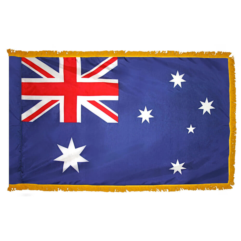 Australia Fringed Flag with Pole Hem, FBPP0000009639