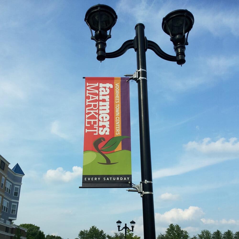 Single Banner Saver Street Pole Bracket System Best