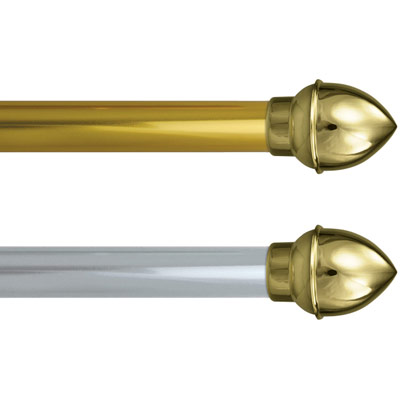Gold Aluminum Lead Parade Banner Pole with Acorn Finials, FBPP0000010878