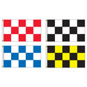 Race Track Checkered Rectangle Flag