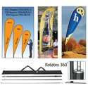 Portable Telescoping Pole for Teardrop or Wave Banner