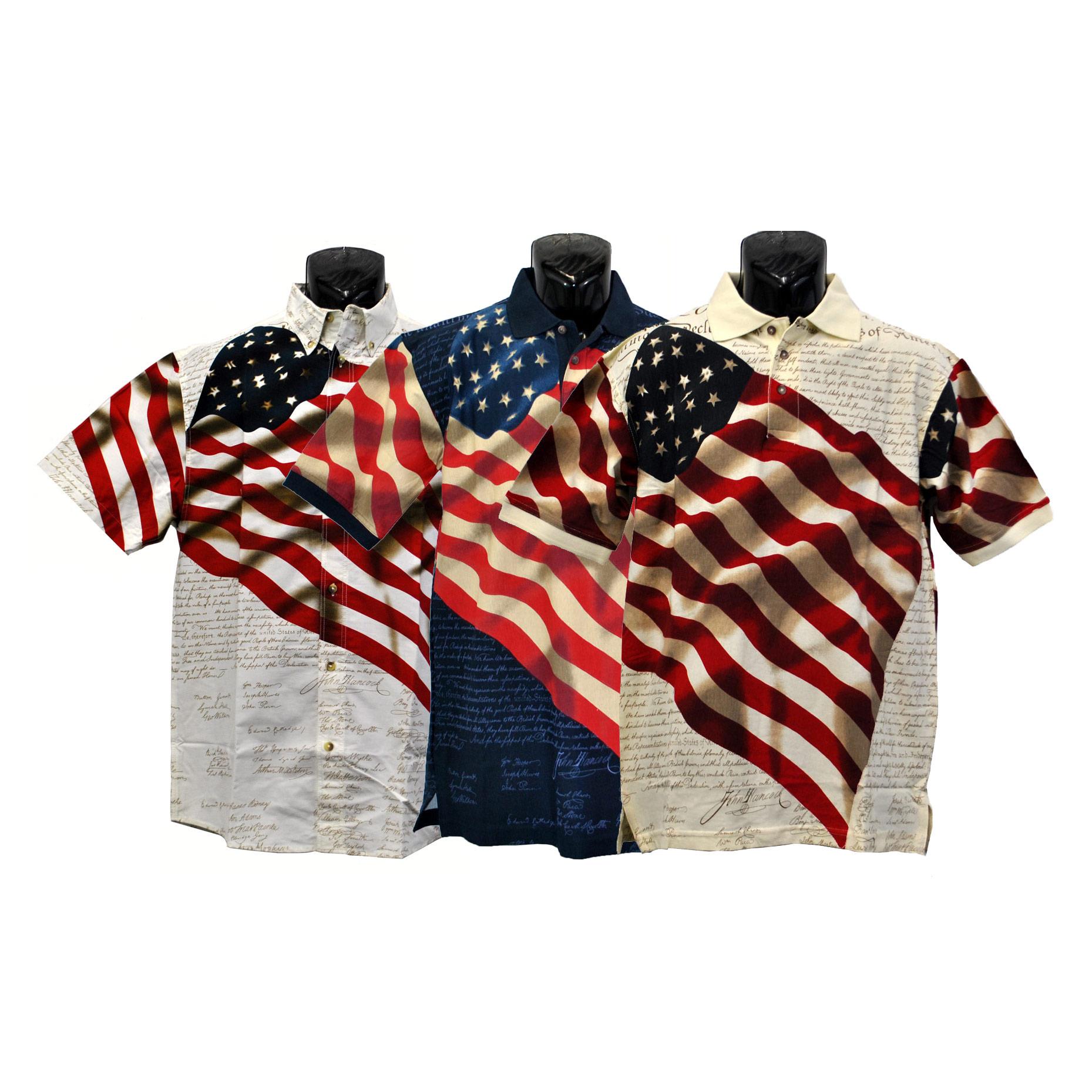 96262490 Constitution Flag Polo Shirt, FBPP0000013247
