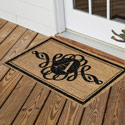 Monogram Scroll Coir Mat