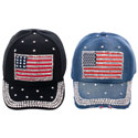 American Flag Bling Hat, FBPP0000013494