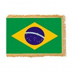 Brazil Fringed Flag with Pole Hem, FBPP0000009809