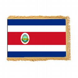 Costa Rica Fringed Flag with Pole Hem, FBPP0000010159