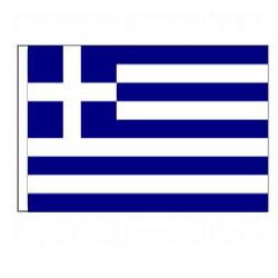Greece (Hellinic Republic) Flag with Pole Hem, FBPP0000010538
