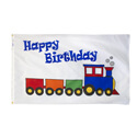 Happy Birthday Train Flag, FUNBDAYTRAIN