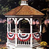 Outdoor Patriotic Display