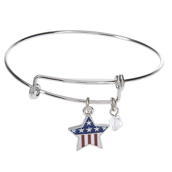 Patriotic Star Dangle Bracelet, GER41692S