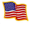 Wavy US Flag Patch, GPATCUS23LW