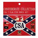 Confederate Flag Pin Collection, GPINCONFSET