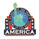Land of the Free Lapel Pin, GPINLIBERTY