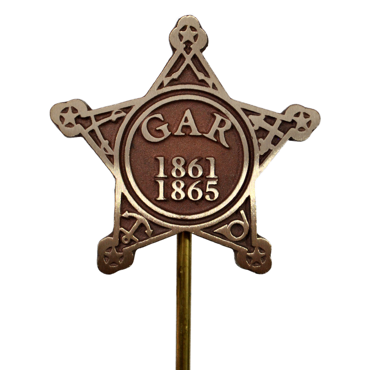 Grand Army of the Republic Grave Marker (Faced Bronze)