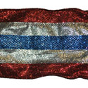Patriotic Glitz Ribbon (4 in x 20 yds), GRIBBON10F