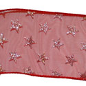 Silver Star Red Ribbon