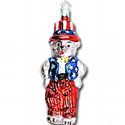 Yankee Doodle Teddy Ornament, ICH107501