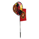 Marine Dual Wheel Spinners with Flag, ITB2879