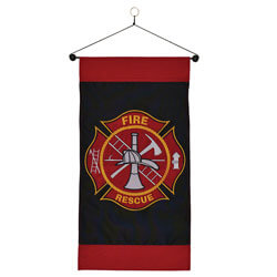Fire Rescue Hanging Banner, ITB4478