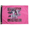 Wicked Wenchs Pirate Crew Flag, ITB586