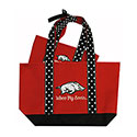 Arkansas Razorbacks Polka Dot Tote Bags (Set of 2), J27125