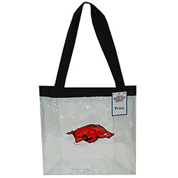 Arkansas Razorbacks Clear Tote Bag, J27461