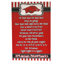 Arkansas Razorbacks Fight Song Wall Plaque, J27585